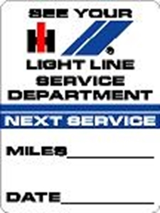 Picture of Next Service Decal