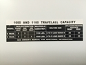 Picture of Travelall Capacity decal